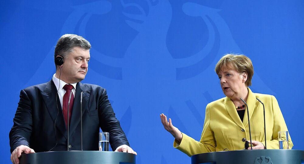 Angela Merkel & Pyotr Poroşenko