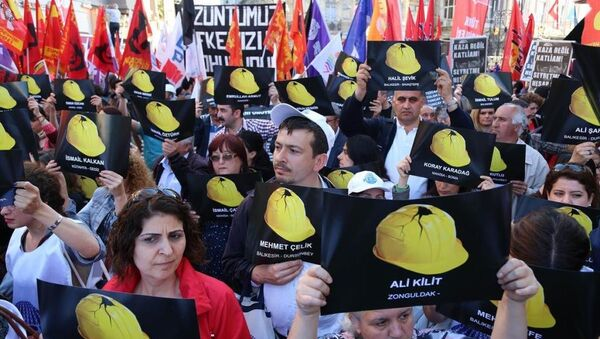 Soma maden kazası protesto - Sputnik Türkiye