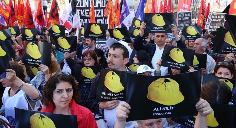 Soma maden kazası protesto