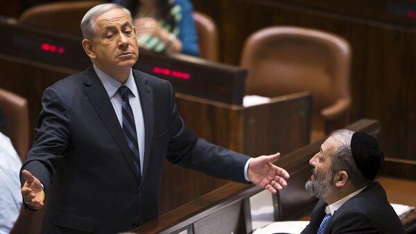 İsrail Başbakanı Benyamin Netanyahu ve Şas Partisi lideri Aryeh Deri - Sputnik Türkiye