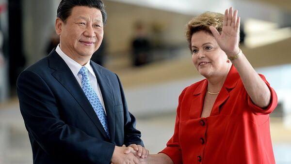 Şi Cinping & Dilma Rousseff - Sputnik Türkiye