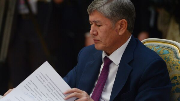 Kırgızistan Cumhurbaşkanı Almazbek Atambayev - Sputnik Türkiye
