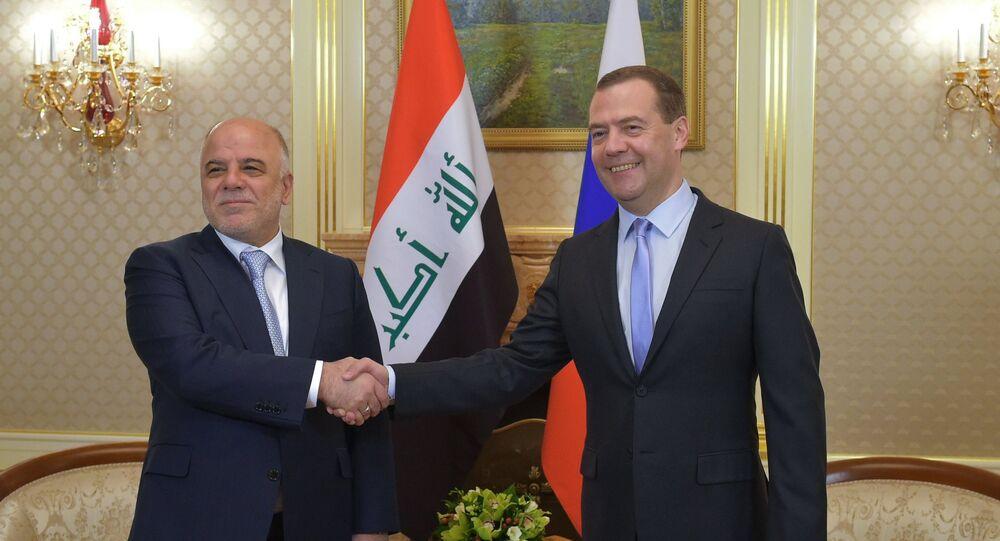 Rus Başbakan Dmitriy Medvedev ve Irak Başbakanı Haydar el İbadi