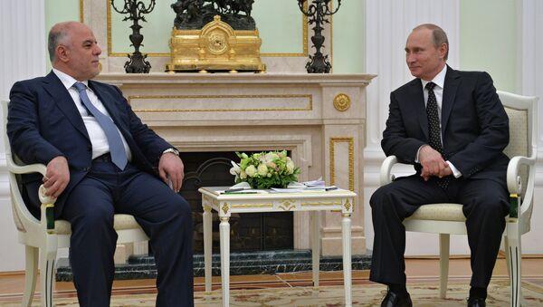 Rusya Devlet Başkanı Vladimir Putin ve Irak Başbakanı Haydar el İbadi - Sputnik Türkiye
