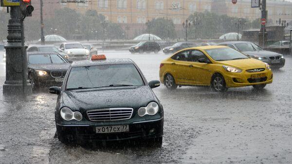 Moskova'da yağmur - Sputnik Türkiye