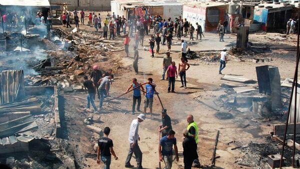 Lübnan Suriyeli sığınmacı kampı - Sputnik Türkiye
