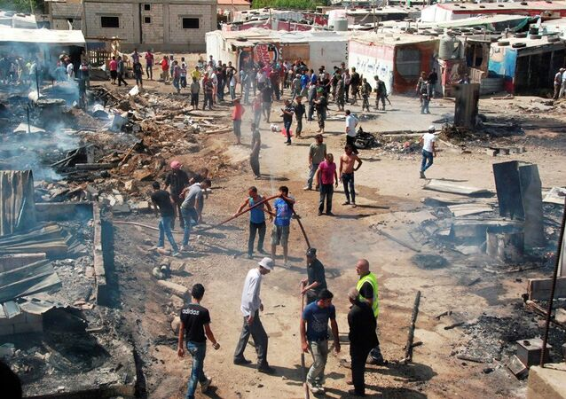 Lübnan Suriyeli sığınmacı kampı