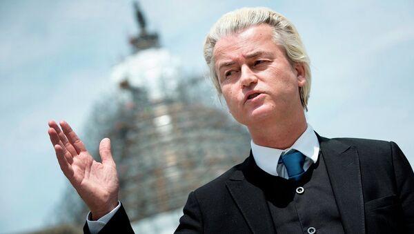 Hollanda'da aşırı sağcı Özgürlük Partisi (PVV) lideri Geert Wilders - Sputnik Türkiye