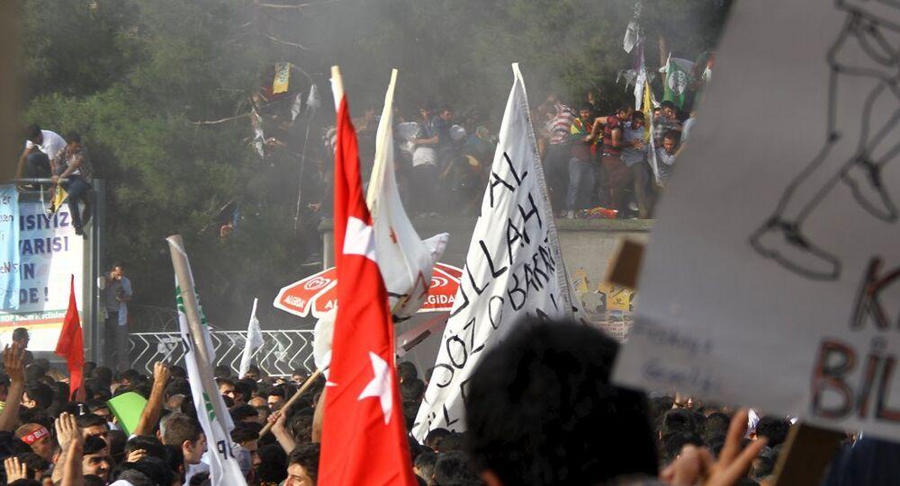 Diyarbakır HDP mitingi patlama