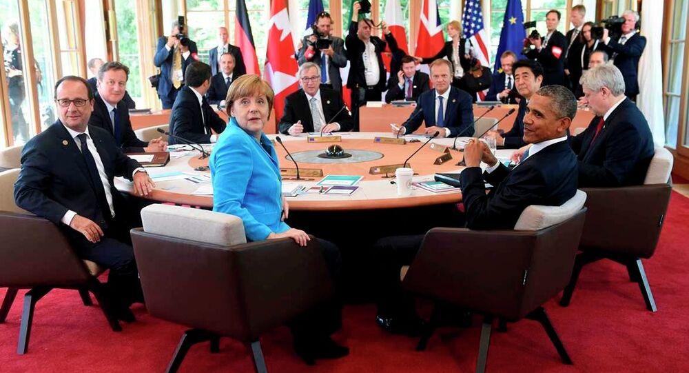 Almanya Başbakanı Angela Merkel'in başkanlığında yapılan ve iki gün süren G7 zirvesine ABD, İngiltere, Japonya, Fransa, İtalya, Kanada devlet başkanları katıldı.