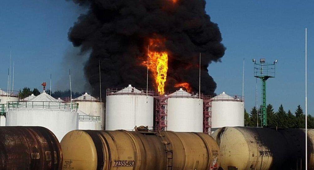 Kiev yakınlarındaki petrol depolarında yangın