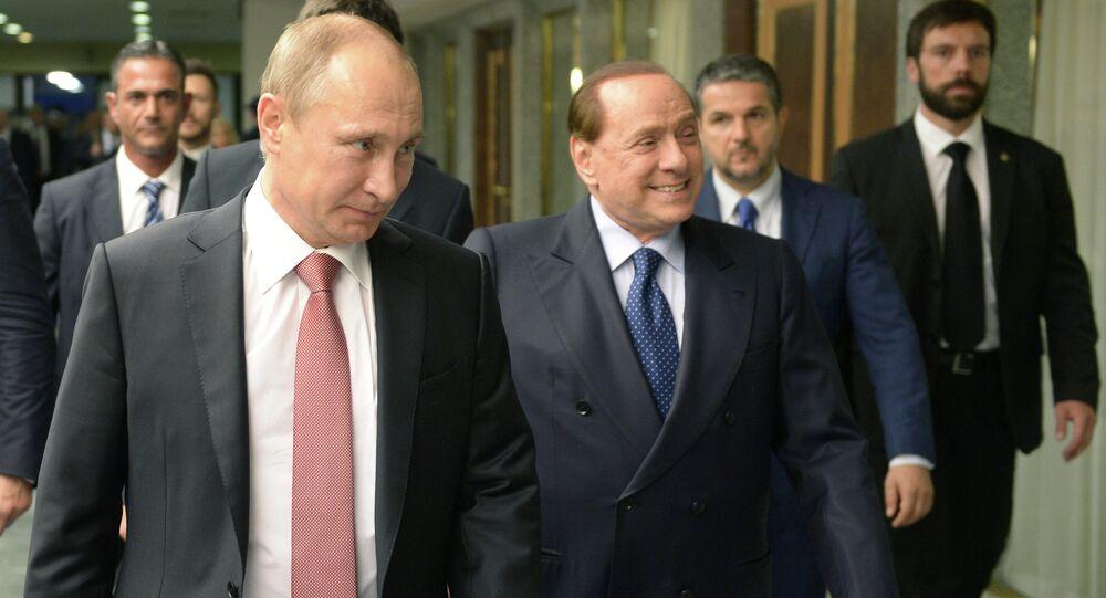 Rusya Devlet Başkanı Vladimir Putin- İtalya eski Başbakanı Silvio Berlusconi