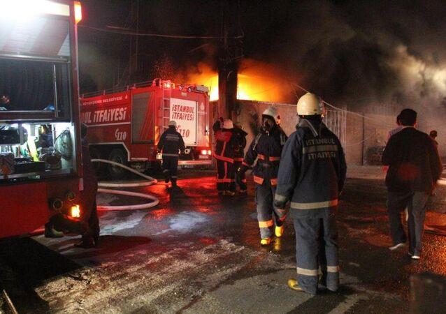 İstanbul yangın, itfaiye