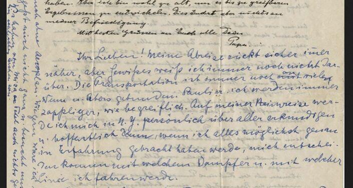 Einstein, mektubunun birinde çocuklarına tavsiyelerde bulunmuş. Oğluna geometriyi daha ciddiye alması gerektiğini yazmış.