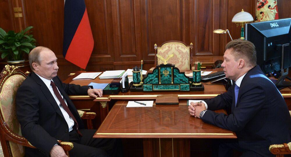 Rusya Devlet Başkanı Vladimir Putin- Gazprom CEO'su Aleksey Miller