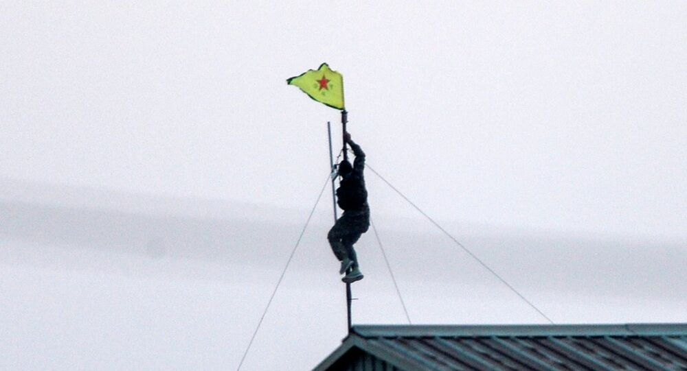 YPG bayrağı - Akçakale