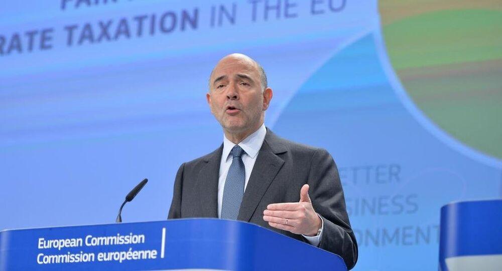 AB Komisyonu'nun Ekonomi, Mali işler, Vergilendirme ve Gümrük Birliğinden sorumlu üyesi Pierre Moscovici