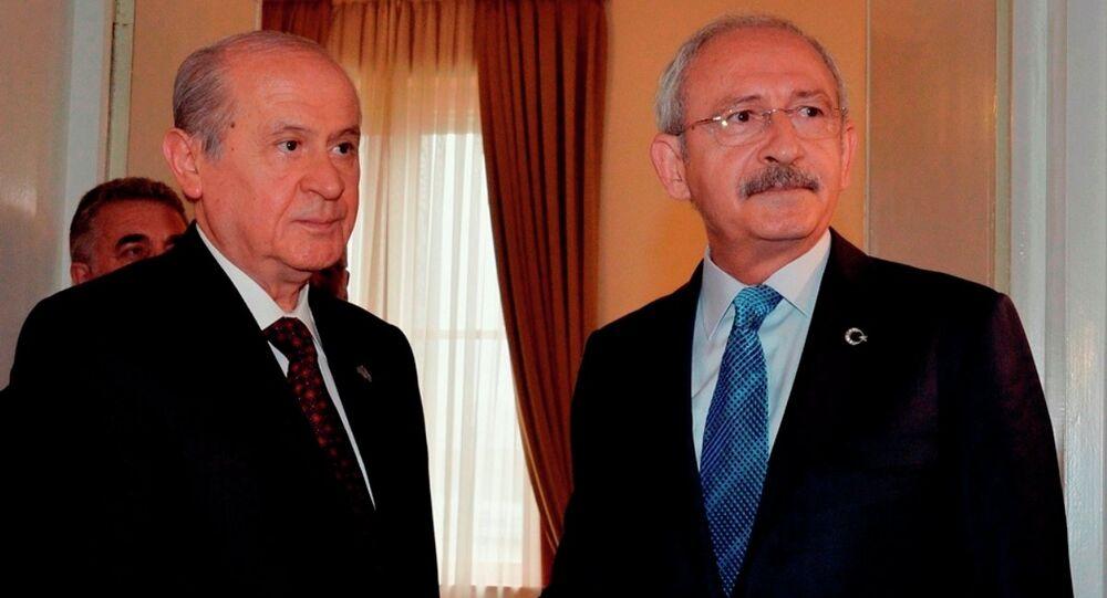 CHP Genel Başkanı Kemal Kılıçdaroğlu- MHP lideri Devlet Bahçeli
