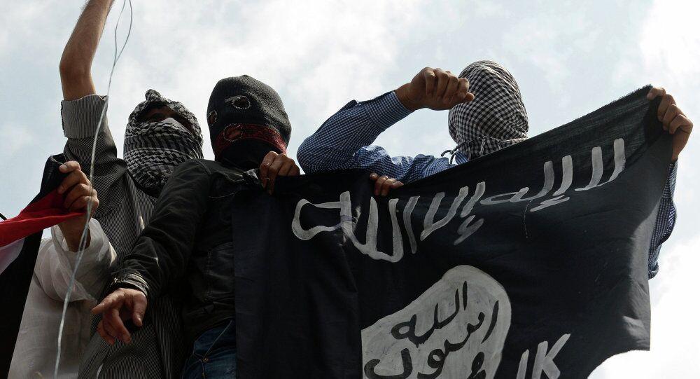 Keşmir - IŞİD bayraklı protesto