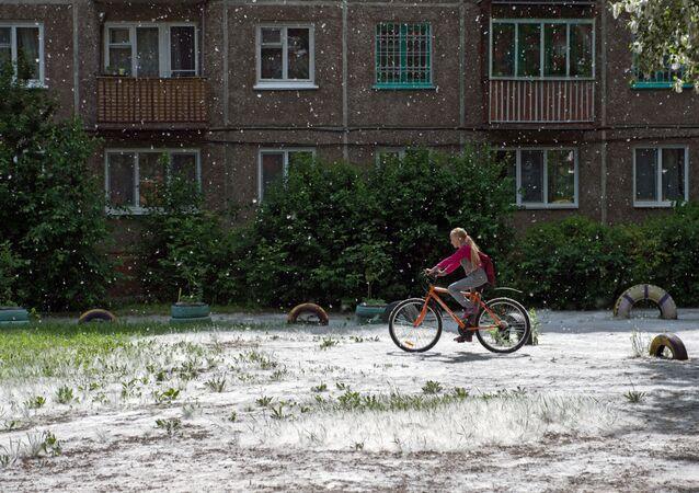 Omsk'ta 'yaz karı'