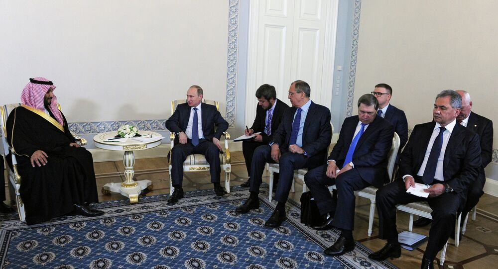 Russian President Vladimir Putin- Suudi Arabistan Savunma Bakanı Prens Muhammed bin Selman bin Abdulaziz