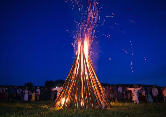Sibirya'da Yaz Gündönümü Festivali