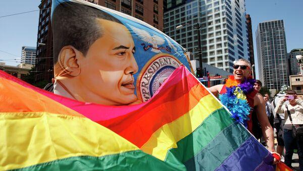 Seattle'da LGBT yürüyüşü - Sputnik Türkiye