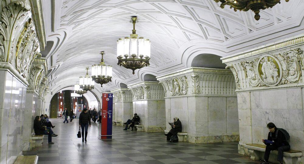 Moskova'daki Prospekt Mira metro istasyonu