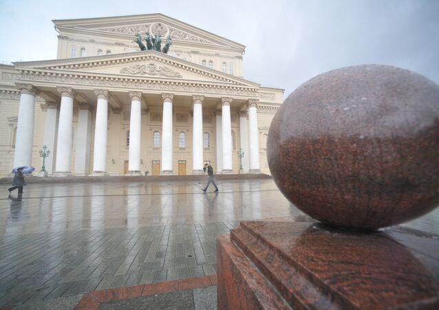 Büyük bir restorasyon sonra Moskova Bolşoy Tiyatrosu.