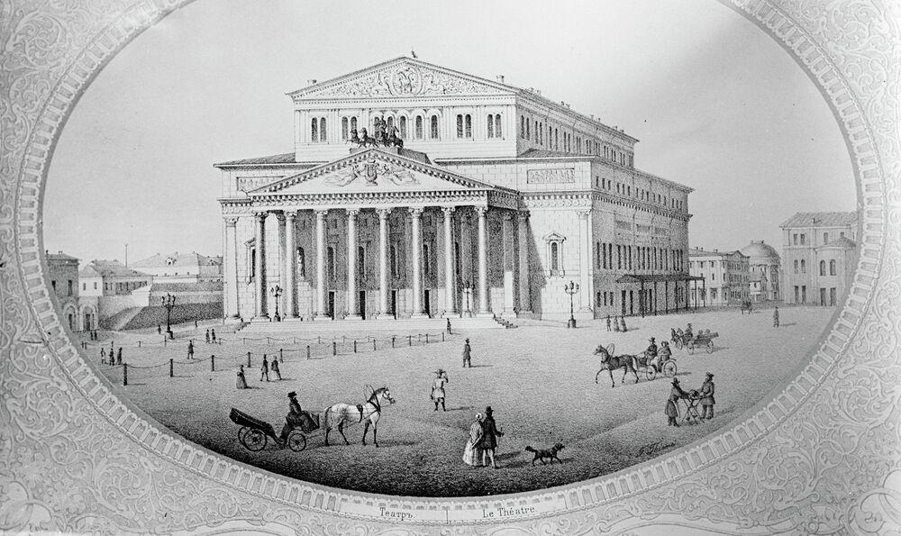 19 yüzyılda Moskova Bolşoy Tiyatrosu