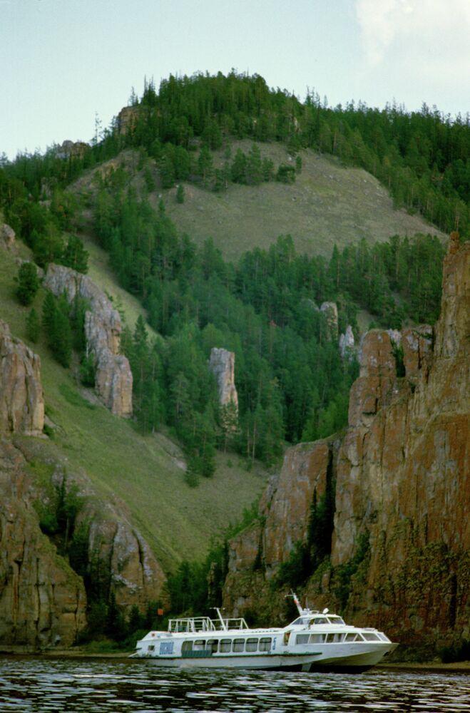 Lenskie Solbı ulusal parkında 'Lena' nehri