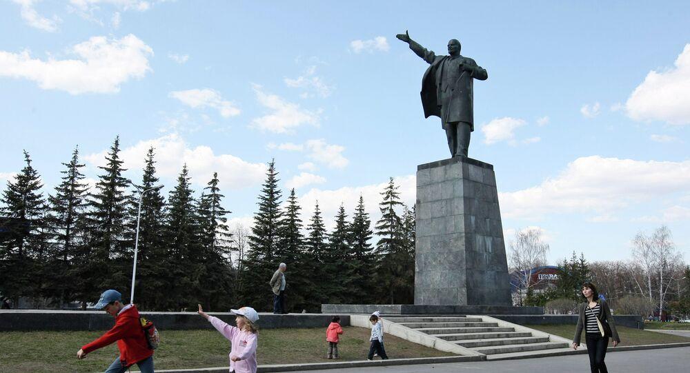Ufa'daki Lenin anıtı