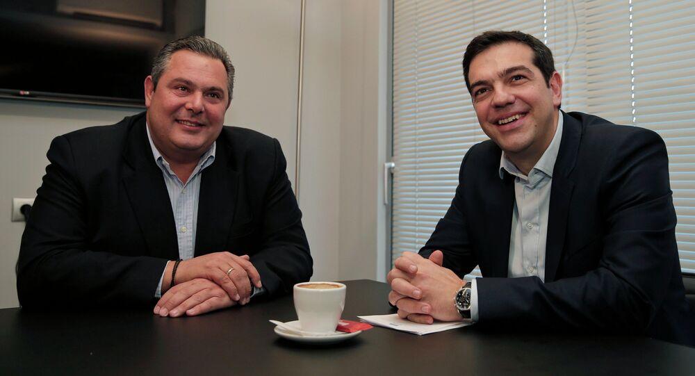 Aleksis Çipras & Panos Kammenos