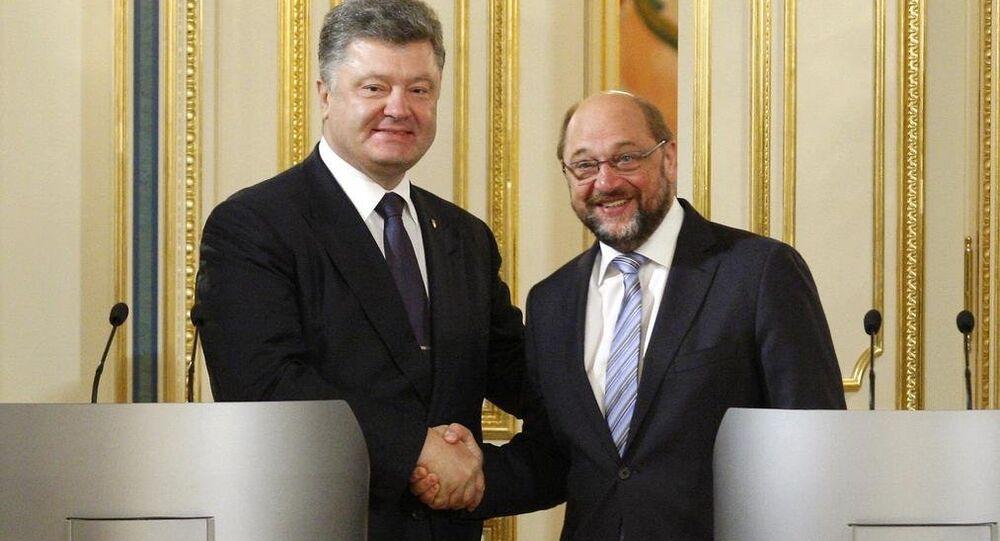 Martin Schulz & Pyotr Poroşenko