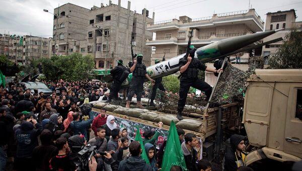 Gazze'deki Hamas'ın silahlı kanadı İzzeddin Kassam Tugayları - Sputnik Türkiye