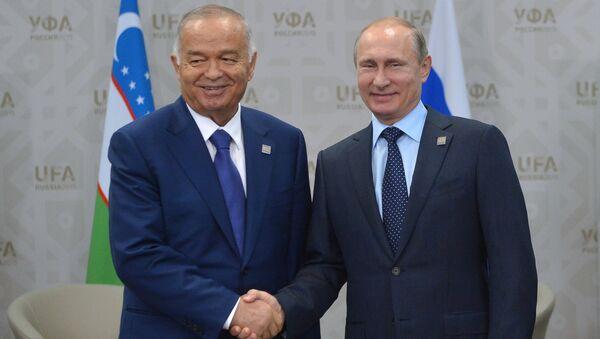 Rusya Devlet Başkanı Vladimir Putin - Özbekistan Devlet Başkanı İslam Kerimov - Sputnik Türkiye