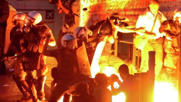 Atina, Yunanistan, protesto - Sputnik Türkiye