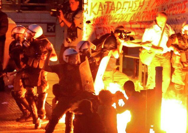 Atina, Yunanistan, protesto