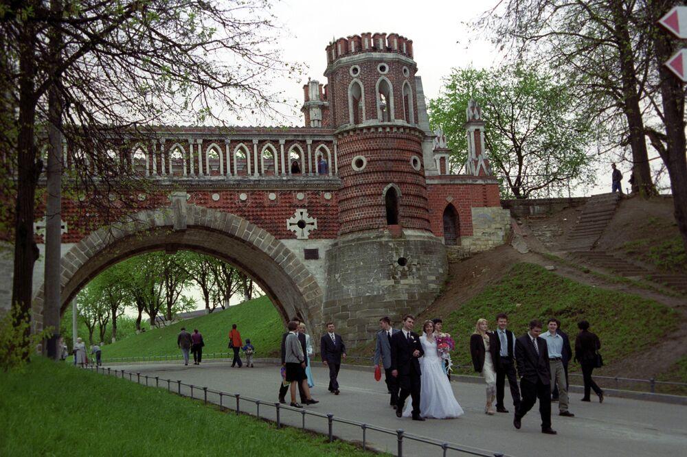Moskova'daki Tsaritsyno parkı