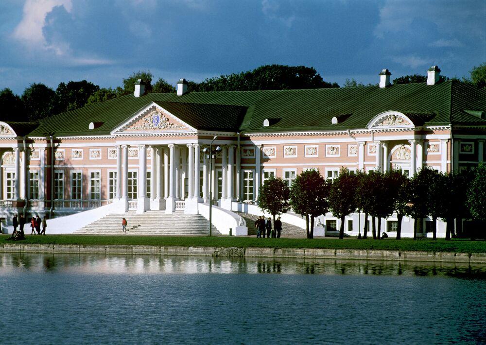 Kuskovo parkın'da  Petr Şeremetyev sarayı