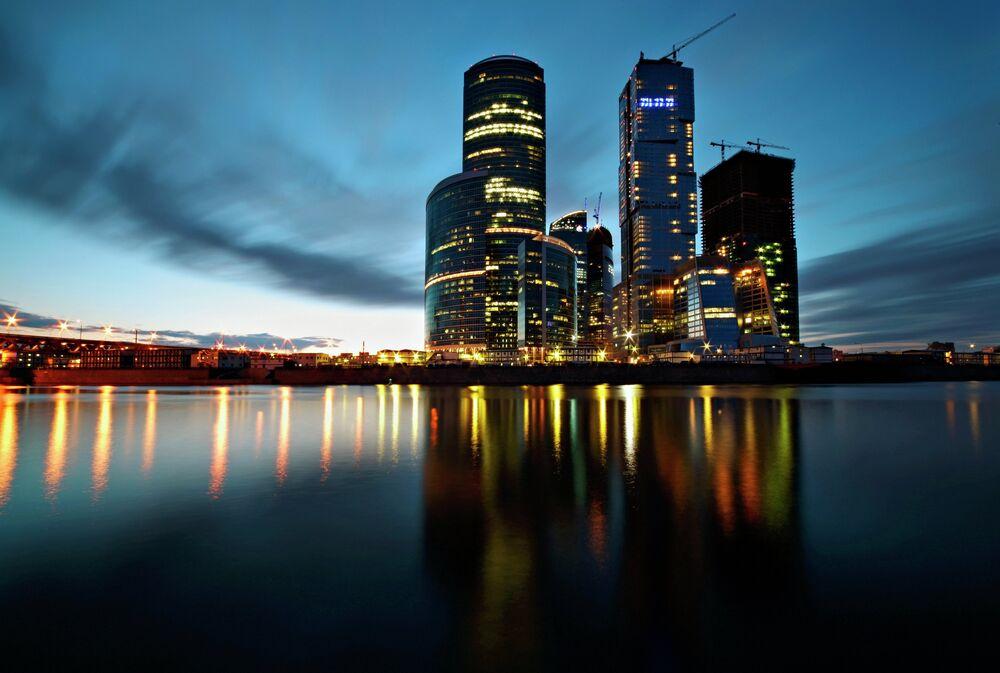 Moskova Uluslararası İş Merkezi manzarası