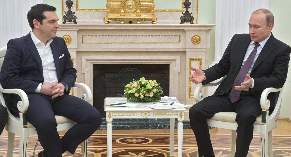 Vladimir Putin & Aleksis Çipras