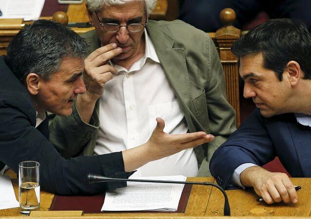 Yunanistan Maliye Bakanı Öklid Çakalatos- Başbakan Aleksis Çipras
