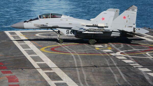 MiG-29KUB çok maksatlı gemi savaş uçağı - Sputnik Türkiye