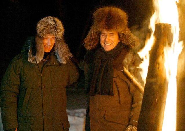 Rusya Devlet Başkanı Vladimir Putin- Eski İtalya Başbakanı Silvio Berlusconi