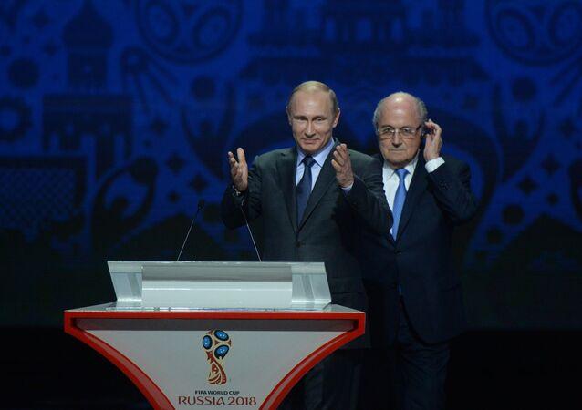 Vladimir Putin, 2018 FIFA Dünya Kupası Elemeleri kura çekiminde