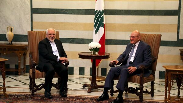 İran Dışişleri Bakanı Muhammed Cevad Zarif'in Lübnan ziyareti - Sputnik Türkiye