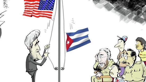 Kerry, Küba'da Raul ve Fidel Castro ile görüşmeyecek - Sputnik Türkiye
