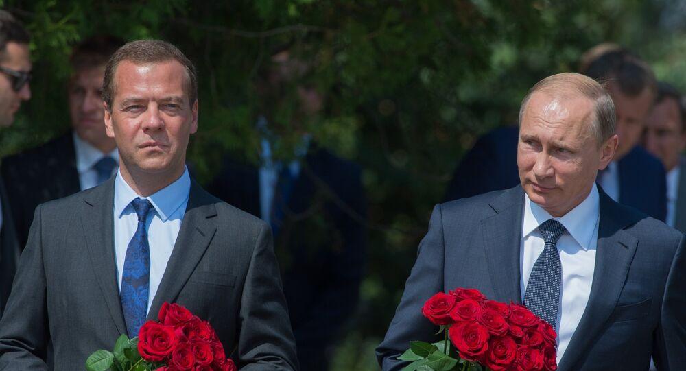 Rusya Devlet Başkanı Vladimir Putin ve Başbakan Dmitriy Medvedev