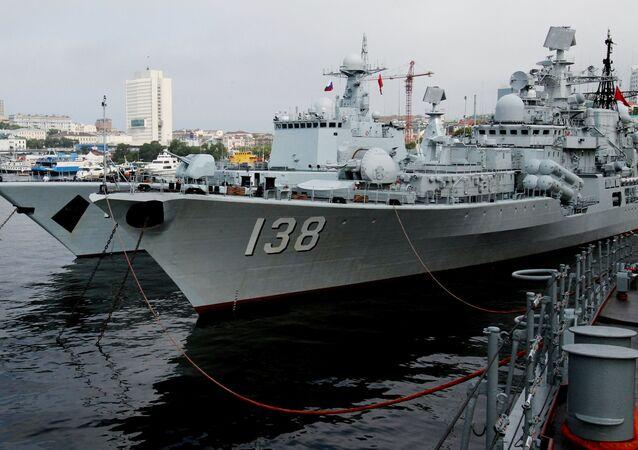 Vladivostok'taki Shenyang ve Taizhou savaş gemileri